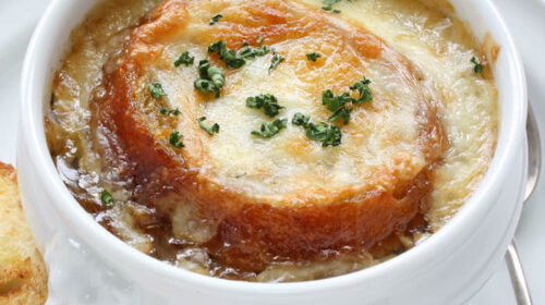 French Onion Soup with Gruyere and Sourdough