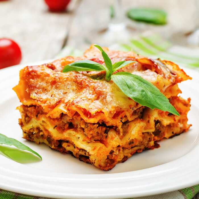 Classic Lasagna featuring Gills Diced Celery and Onions