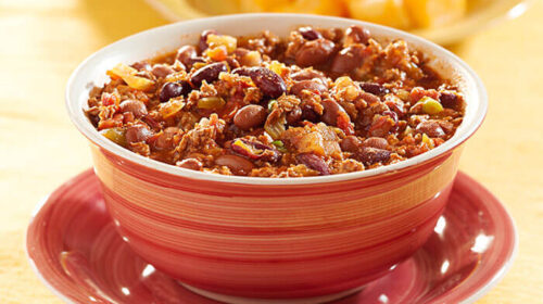 Grand Slam Chili with Shredded Beef