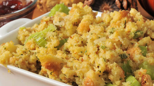 Sweet Corn Bread Thanksgiving Stuffing