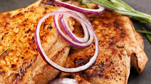 Tangy Summer Pork Loin Featuring Gills Red Onion